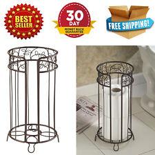 Standing Toilet Paper Tissue Reserve Roll Holder Bathroom Storage Rack Bronze