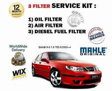 FOR SAAB 9-5 95 1.9 TiD 2005--  OIL AIR FUEL 3 FILTER SERVICE KIT *OE QUALITY*