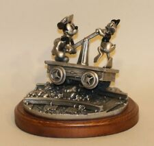1995 Chilmark Pewter Figurine Disney Riding the Rails Mickey Mouse & Donald Duck