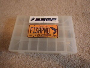 Spirit River 21 Compartment Box Hook Storage Fly Tying Beads Eyes Curved Bottom