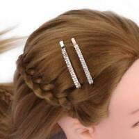 2 Pcs Frauen Kristall Strass Haarspange Haarspange Pin Schmuck Haarspange