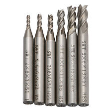6pcs New 4 Flute Carbide End Mill CNC Router Tools 2-6mm Milling Tool Cutter