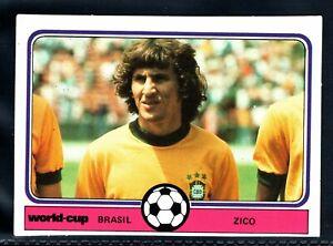 SUPERB MONTY GUM  WORLD CUP ARGENTINA 1978  ZICO - BRAZIL ROOKIE CARD