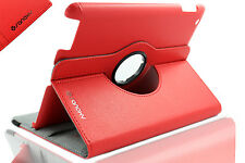 LOT of 50x pcs  (RED) Apple iPad 2/3/4 360 Degree Rotating Folio Case Stand