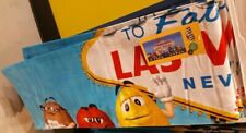 """M & M's Authentic Welcome To Fabulous Las Vegas Beach Pool New Towel 34"""" x 64"""""""