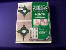 Gallery Glass STAINED GLASS WINDOW PAINTING KIT 12 PATTERN NEW IN BOX
