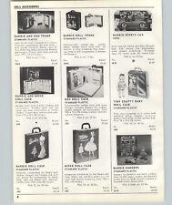 1963 PAPER AD Barbie Doll Ken Travel Trunk Midge Doll Case Irwin Sports Car