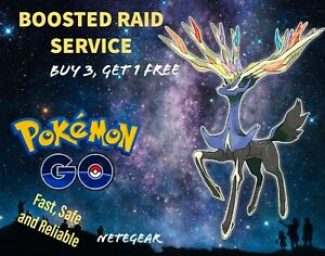 ⛰️ Pokémon Go BOOSTED XERNEAS RAID✔️ GUARANTEED CATCH✔ Buy 3, Get 1 FREE ⛰️