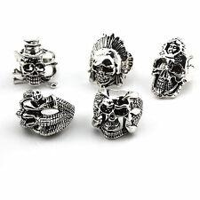 Wholesale 50pcs men's GOTHIC BIKER Vintage skull punk rock Jewellery Rings