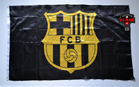Barcelona Flag Banner 3x5 ft Spain FC Futbol Soccer Bandera Black Gold Premium