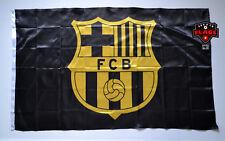Barcelona Flag Banner 3x5 ft Spain FC Futbol Soccer Bandera Black Gold Premium