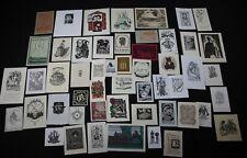 38)Nr.170- EXLIBRIS- und PF Europäische Künstler,  Konvolut 52 Blätter