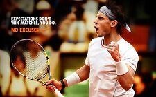 RAFAEL NADAL RARE NO EXCUSES ATP TOUR TENNIS POSTER AUSTRALIAN OPEN 2018
