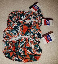 3 NWT NFL MIAMI Dolphins VINTAGE 100% Silk String Bikini Panty Size S Small