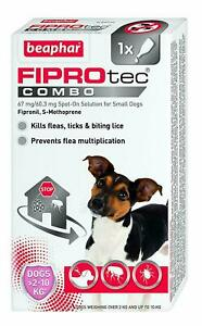 Beaphar FIPROtec COMBO Flea & Tick Spot On For small dogs 1 treatment