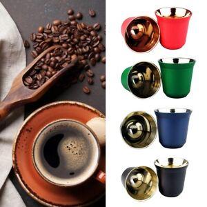 Doppelwand Edelstahl Espresso Tasse Isolierung nespresso Pixie Kaffeetasse