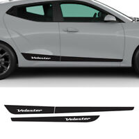 Side Line Decal Protect Sticker Black 3pcs for Hyundai Veloster N 2018 2019 2020