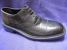 NEW Cole Haan Genuine Black Lizard Shoes Dress Lace Up Oxford NWOB 8.5 D Italy
