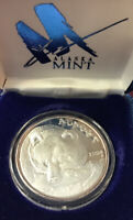 1994 Bear Fishing Alaska Mint 1 Troy Oz .999 Fine Silver Round Proof Coin