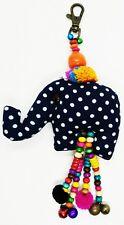Fabric Cute Animal Elephant Doll Pattern Scotch Keyring Sewing Charm Lover