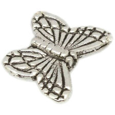 1Bag(30pcs) Tibetan Silver Butterfly Spacer Charm Beads 10mm Bead Jewelry M A6X7