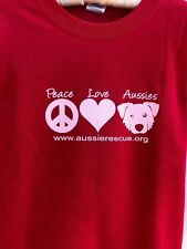 Aussie Rescue - Peace Love Aussie Cherry Red Sweatshirt
