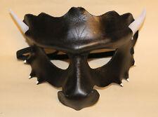 Máscara De Dragón De Obsidiana hecho a mano de cuero Veneciana Mascarada