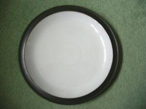DENBY JET BLACK 1 X SALAD DESSERT PLATE SECOND QUALITY V. GOOD USED CONDITION P