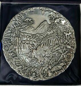 Arthur Court Rainforest Nature Watch Conservancy Limited Edition Plate 1764/7500