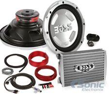 """BOSS AUDIO CX122 12"""" 2800W Car Power 2) Subwoofers Sub + 2Ch Amplifier+ Amp Kit"""