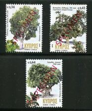 CYPRUS 2019 TREE SET OVERPRINTED SPECIMEN  MINT NH