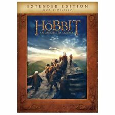 The Hobbit: An Unexpected Journey (5 DVD Set, + Digital Ed Extended Edition) NEW