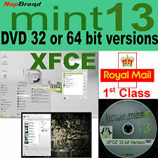 Linux mint 13 XFCE 32 or 64 bit lightweight alternative to Windows XP 7 or Vista