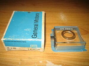 NOS GM 1967-1968 Cadillac Eldorado Auto Dimming Lights Bezel Dial Escutcheon