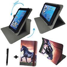 9 zoll Tablet Tasche -  Lenovo IdeaTab A2109A Etui Hülle - 360° Pferd Motiv