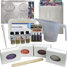 Clear Soap Making Kit: Melt & Pour Supplies: 2 Lb Clear Base, Molds, Fragrance