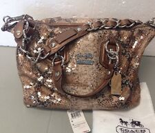 Coach Madison Sequin Audrey 2 Way Handbag Satchel Shoulder Bag 15269