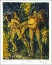 Kirnitskiy Sergey 2008 Exlibris C4 Kupala Folklore Erotic Nude Woman 164