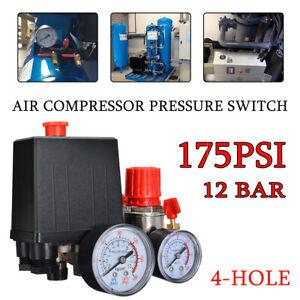 Air Compressor Auto Pressure Switch Control Cut Off Valve 175PSI 220-240V 20A UK