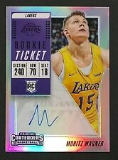 9b6044b9319 MORITZ WAGNER 2018-19 Panini CONTENDERS Prizm Rookie AUTO HOLO RC LAKERS