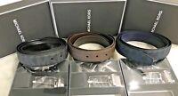 Michael Kors Jet Set Mens 4 in 1 Signature or Leather Belt Gift Set Msrp 189.00