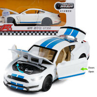 1:32 Ford Mustang Shelby GT350 Model Car Alloy Diecast Gift Toy Vehicle White