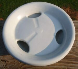 """RARE Antique J&G Meakin White Ironstone 6"""" BUTTER CHEESE STRAINER DRAINER DISH"""