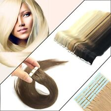Tape In Keratin Straight 50g 100% Remy Human Hair Extensions Pretty Advanced Fit
