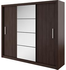 Brand New Modern Bedroom Wardrobe Sliding Door with Mirror IDEA Wenge 250cm
