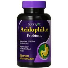 Natrol Acidophilus Probiotic 100 mg 150 Cap 1 billion live cultures Exp 2019 30%