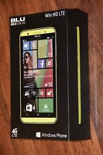 EXCELLENT BLU Win HD 4G LTE Windows Unlocked Smartphone cell phone NEON YELLOW