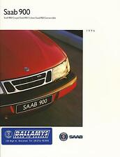 Saab 900 UK Market Brochure 1995-96 66 Pages Includes 5-Door Coupe & Convertible