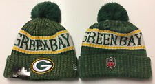2018 Green Bay Packers New Era Knit Hat On Field Sideline Beanie Stocking Cap