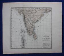 More details for original antique map india, sri lanka, indian ocean, le vasseur, fisquet, 1878